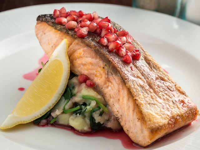fresh fish served at Wrights Cafe Bar Swords